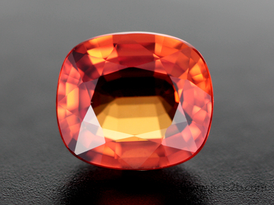 Faceted Madagascar Orange Sapphire