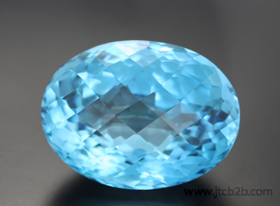 Faceted Sky Blue Topaz
