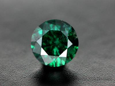 Faceted Blue Diamond (Irradiated)