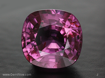 Cut Purplish Red Sapphire Unheated