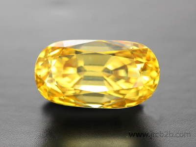 Faceted Yellow Sapphire