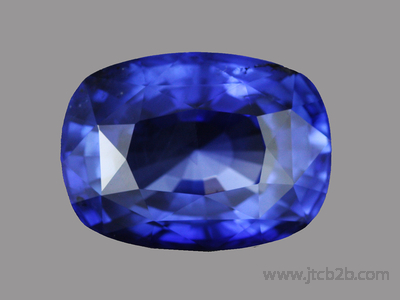 Faceted Blue Sapphire Unheated