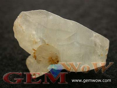 Bizarre Sapphire Twin Crystal from Burma, 5927 carats, Orangy Yellowish Colorless