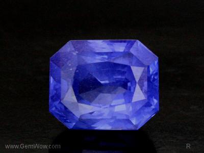 Faceted Sapphire (HT)