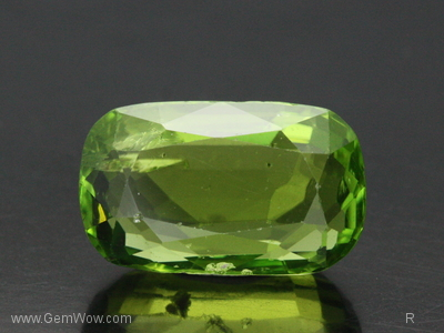 Faceted Peridot from Burma, 1268 carats, Yellowish Green Color