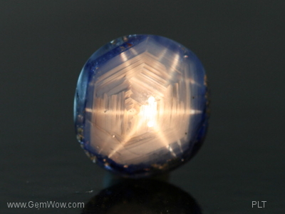 Silver Star with Blue Rim Sapphire from Burma, 646 carats
