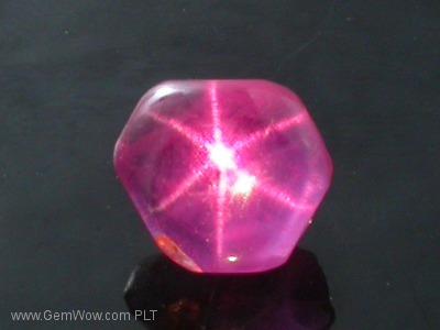 Star Ruby Cabochon from Burma, 141 carats, reddish pink color