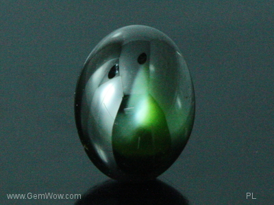 Very Rare Green Star Diopside from Mogok, 616 carats,Blackish Green Color
